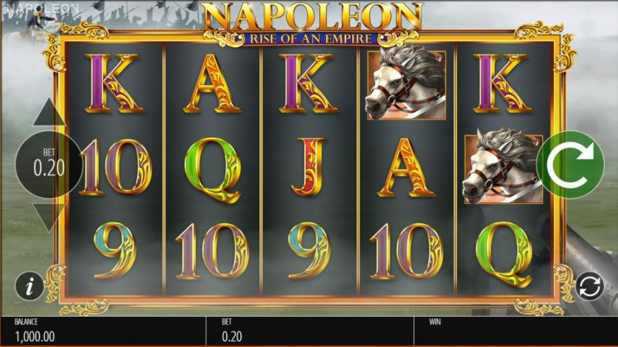 napoleon rise of an impire video slot