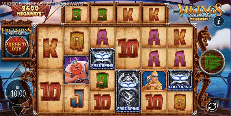vikings unleashed video slot